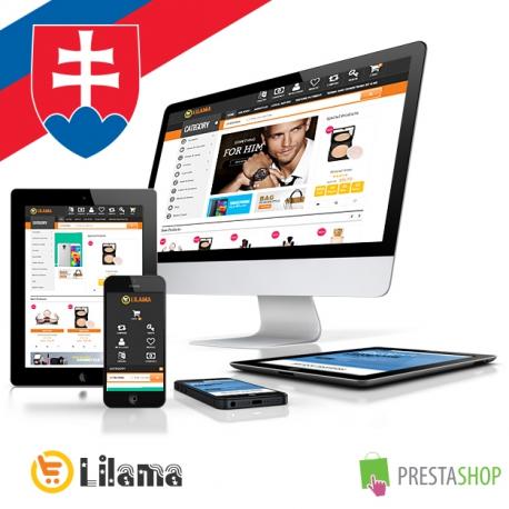 Slovenčina pro PrestaShop šablonu Lilama Mega Shop