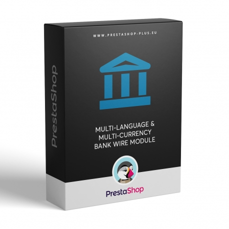 Multi-language & multi-currency Bank wire module for PrestaShop
