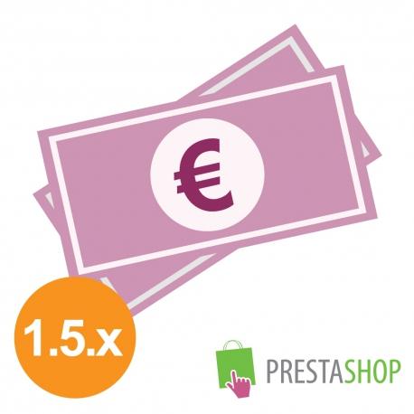 Platba v hotovosti pri osobnom odbere pre PrestaShop 1.5.x