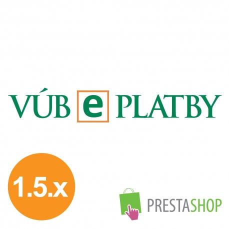 ePlatby VÚB pro PrestaShop (Platební modul)