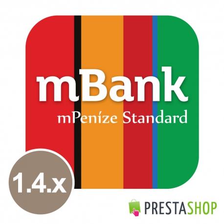 mPeníze Standard pre PrestaShop 1.2.x - 1.4.x (Platobný modul)