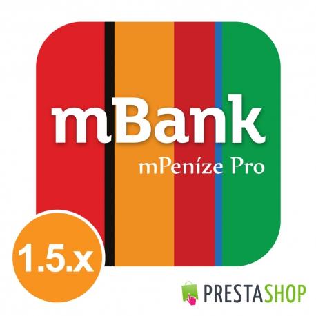 mPeníze Pro pre PrestaShop 1.5.x (Platobný modul)
