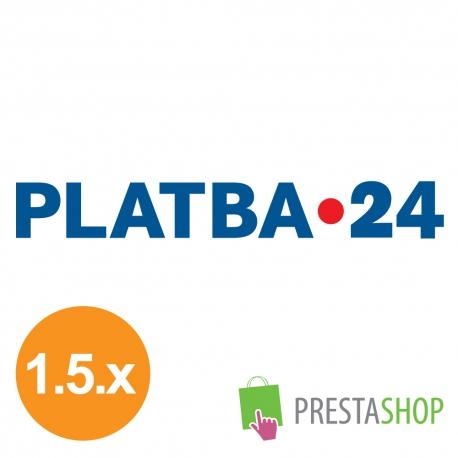 PLATBA 24 pre PrestaShop 1.5.x (Platobný modul)