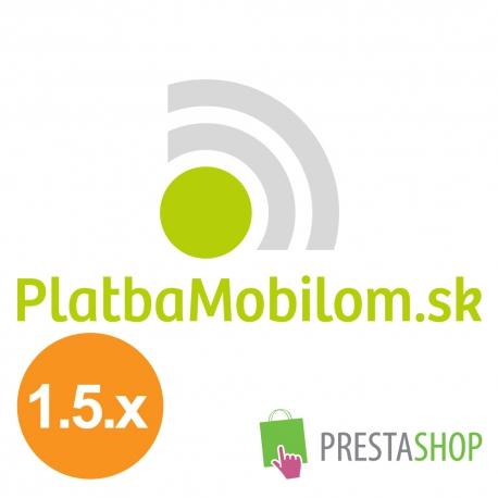 PlatbaMobilom.sk pre PrestaShop 1.5.x (Platobný modul)