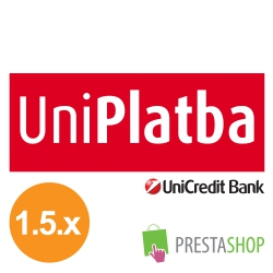 UniPlatba for PrestaShop 1.5.x (Payment gateway)