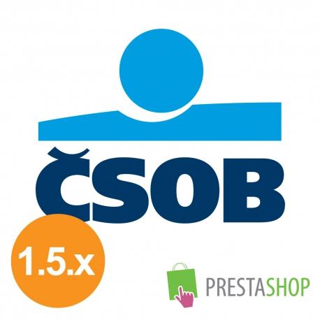 ČSOB platobné tlačidlo pre PrestaShop 1.5.x (Platobný modul)