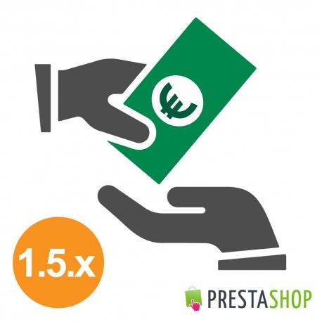 Platba dobírkou s poplatkem pro PrestaShop 1.5.x