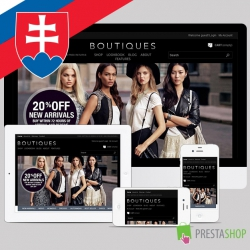 Slovak language for Boutiques PrestaShop theme