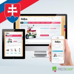 Slovenčina pro PrestaShop šablonu Sellya