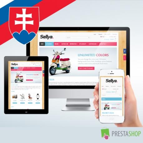 Slovenčina pre PrestaShop šablónu Sellya