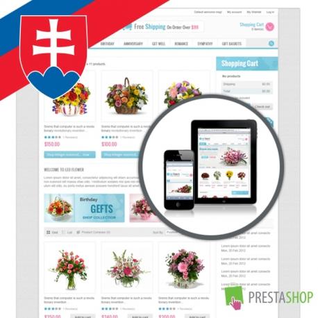 Slovenčina pro PrestaShop šablonu Leo Flowers