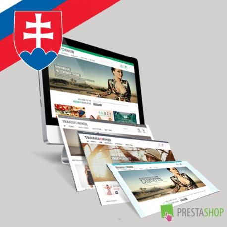 Slovak language for Transformer PrestaShop theme