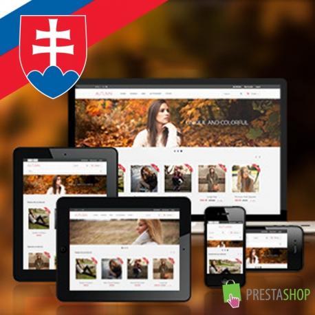Slovak language for Autumn PrestaShop theme