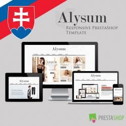 Slovenčina pre PrestaShop šablónu Alysum