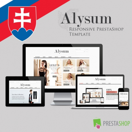Slovak language for Alysum PrestaShop theme