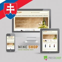 Slovak language for Wine Shop PrestaShop theme