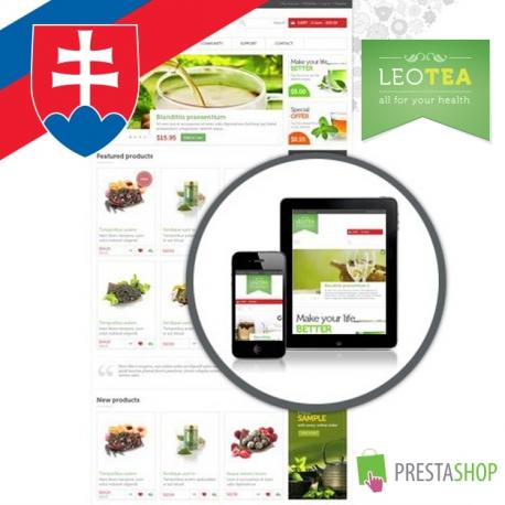 Slovak language for Leo Tea PrestaShop theme