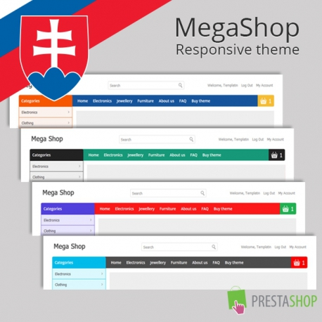 Slovenčina pro PrestaShop šablonu MegaShop