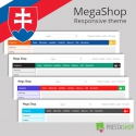 Slovak language for MegaShop PrestaShop theme