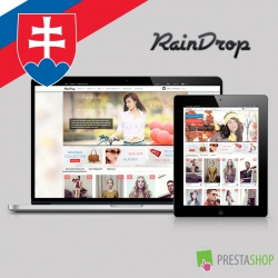 Slovak language for RainDrop PrestaShop theme