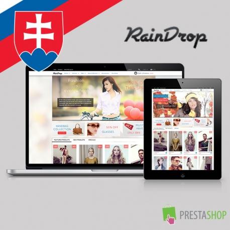 Slovenčina pro PrestaShop šablonu RainDrop