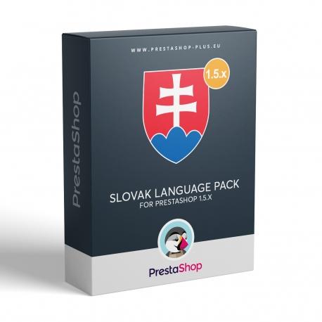Slovak language for PrestaShop 1.5.x