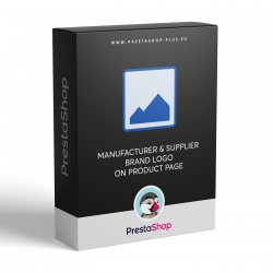 Logo výrobcu a dodávateľa na stránke produktu (modul pre PrestaShop 1.6.x)