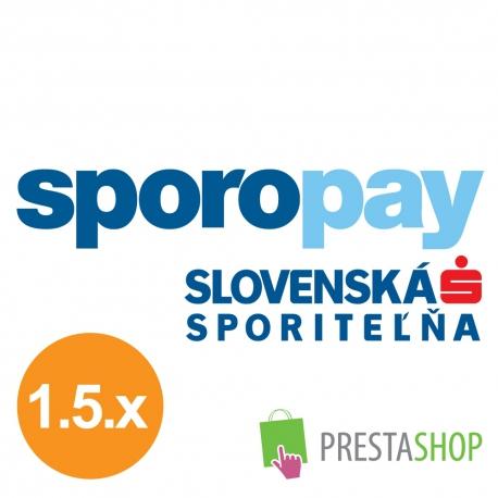SporoPay pre PrestaShop 1.5.x (Platobný modul)