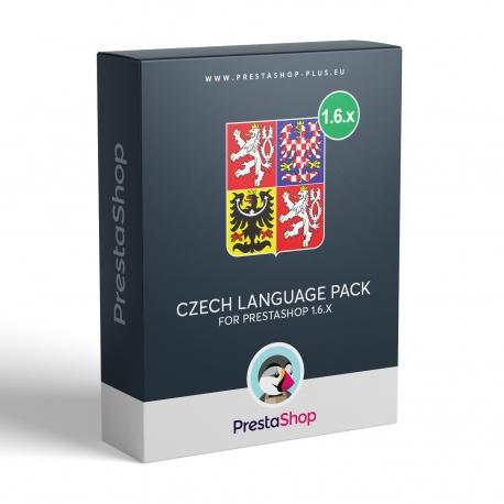 Czech language for PrestaShop 1.6.x
