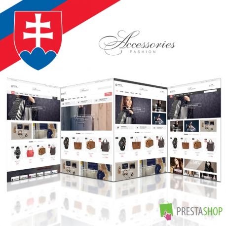 Slovenčina pro PrestaShop šablonu Accessories