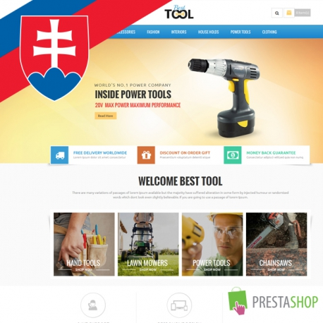 Slovak language for Tools PrestaShop theme