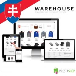 Slovenčina pro PrestaShop šablonu Warehouse