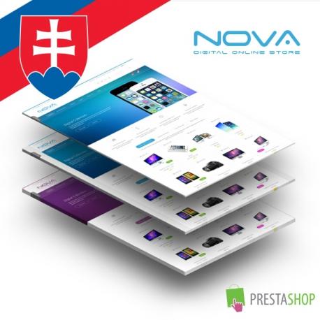 Slovenčina pro PrestaShop šablonu SNS Nova