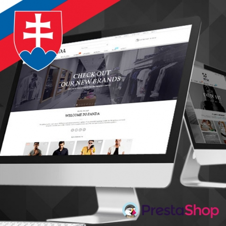Slovenčina pro PrestaShop šablonu Panda
