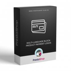 Multi-jazyční blok: Loga platebních systémů v produktech