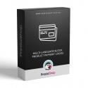 Multi-jazyčný blok: Logá platobných systémov v produktoch