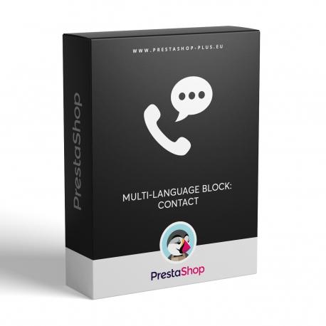 Multi-language block: Contact