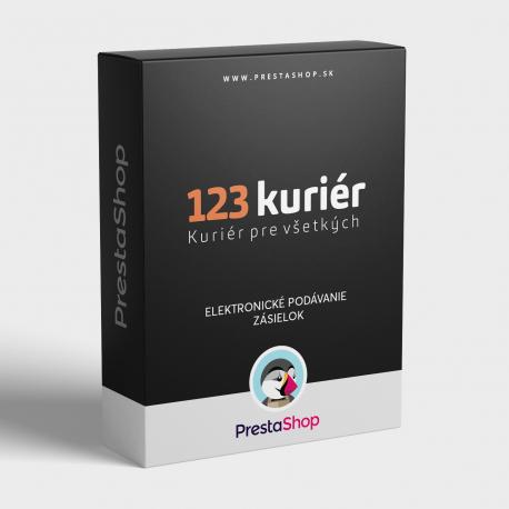 Elektronické podávanie zásielok 123Kuriér pre PrestaShop (modul)