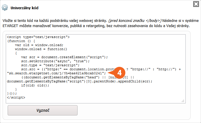 eTarget: Conversion code