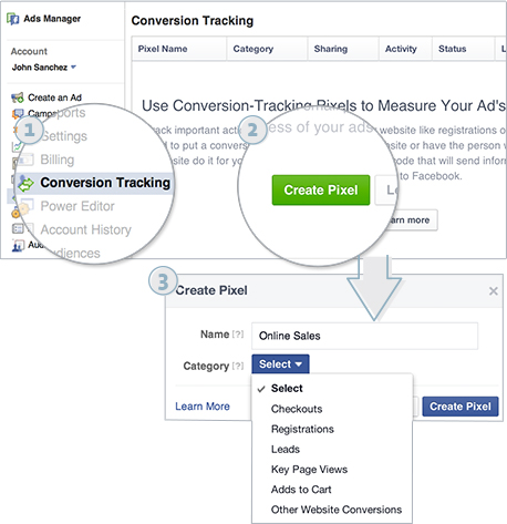 Facebbok Pixel: Creating Conversion Tracking