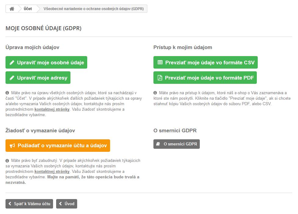 Modul GDPR pre PrestaShop